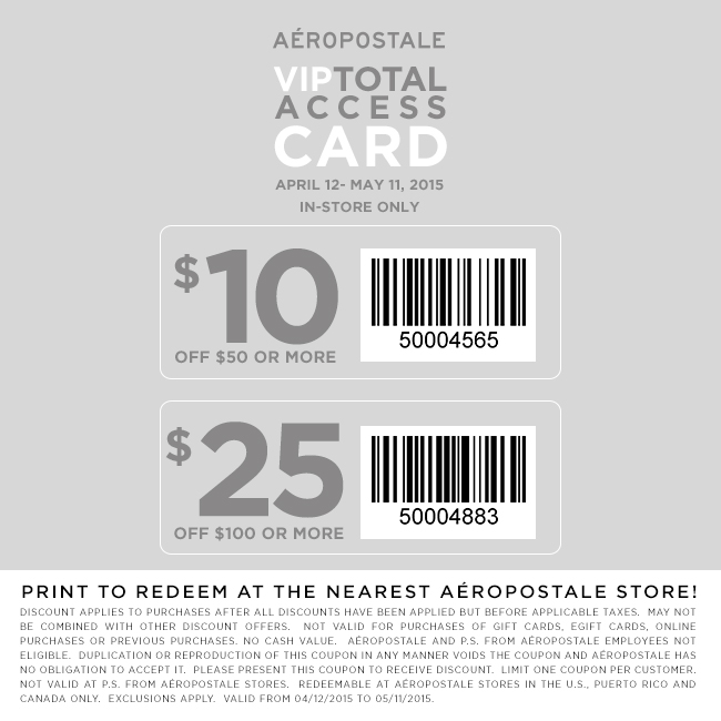 Aeropostale Coupon December 2017 $10 off $50 & more at Aeropostale
