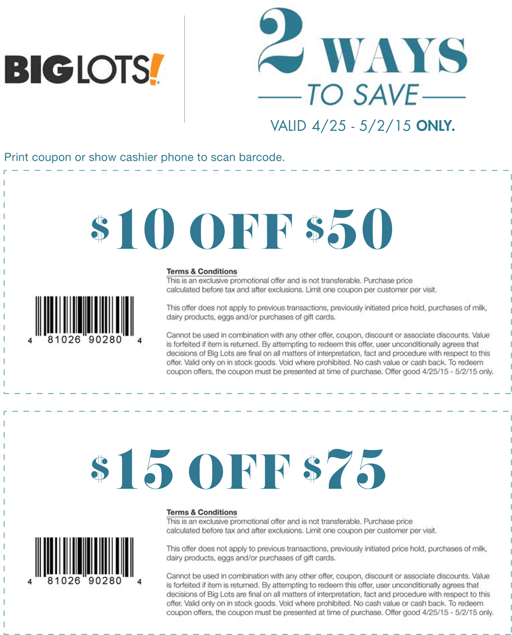 Big Lots Coupon January 2018 $10 off $50 & more at Big Lots