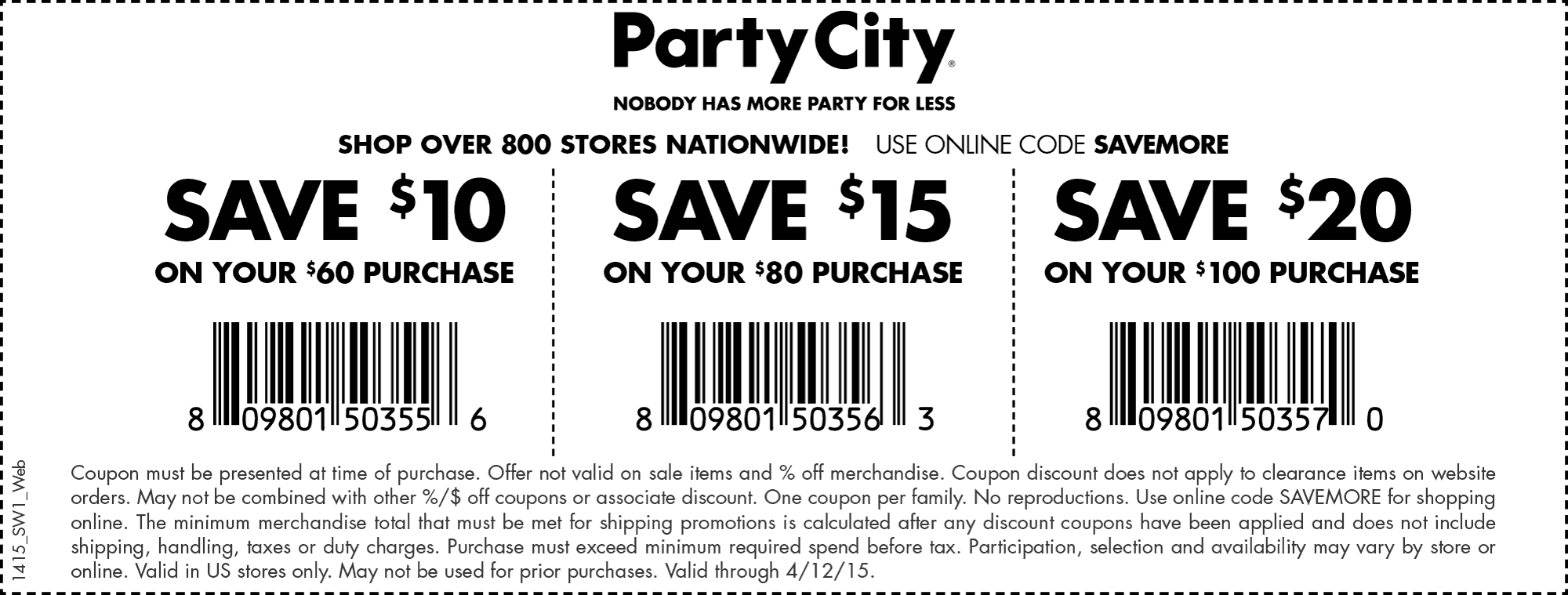 Party City Coupon September 2018 $10 off $60 & more at Party City, or online via promo code SAVEMORE