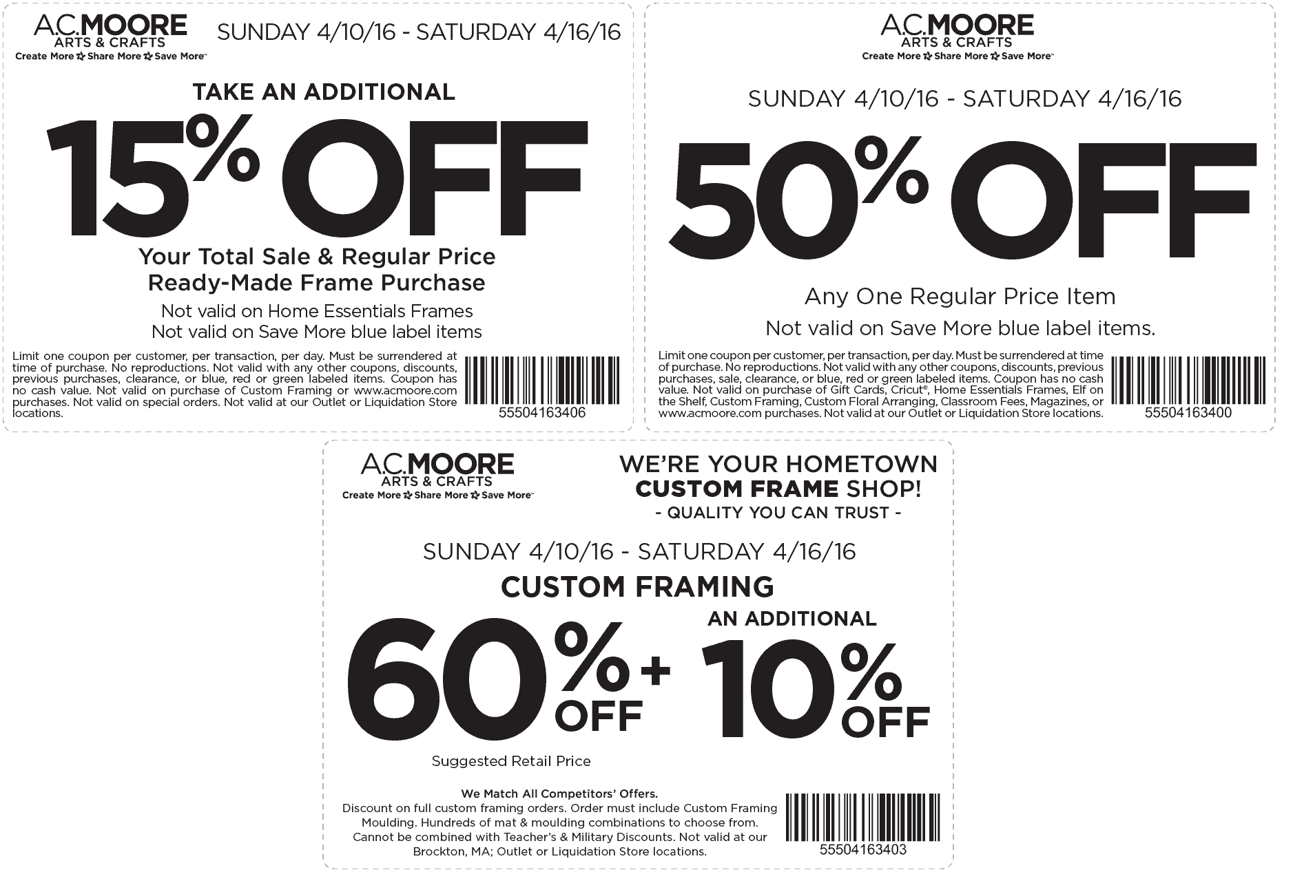 A.C. Moore Coupon January 2018 50% off a single item & more at A.C. Moore