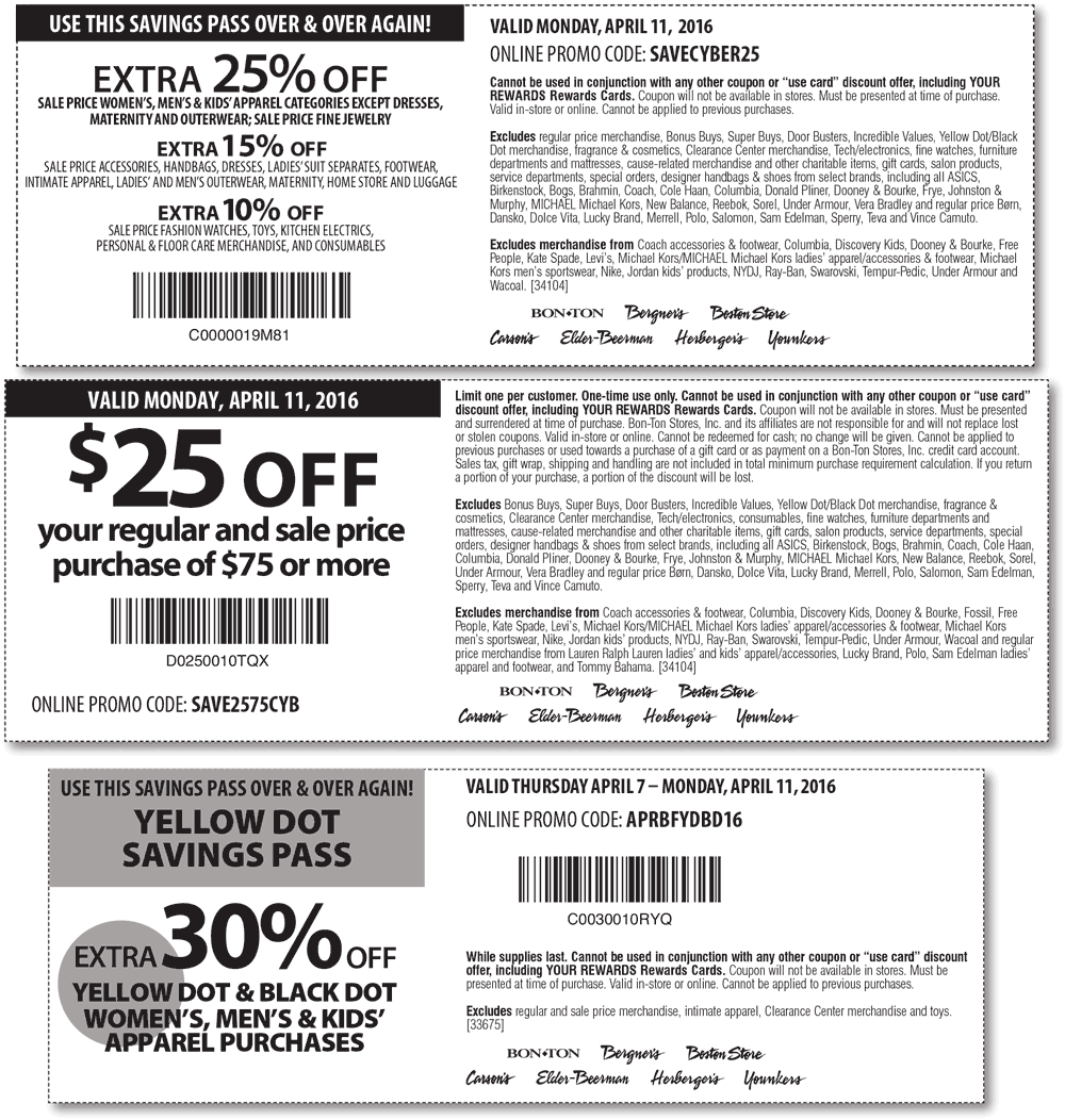 Carsons Coupon January 2019 25% off & more today at Carsons, Bon Ton & sister stores, or online via promo code SAVECYBER25