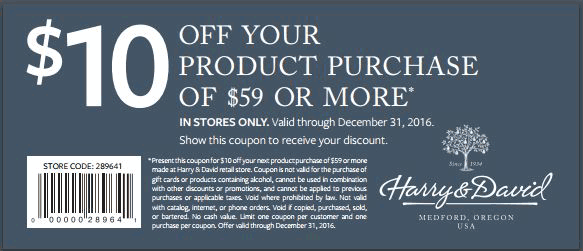 Harry & David Coupon December 2016 $10 off $59 at Harry & David gourmet gifts
