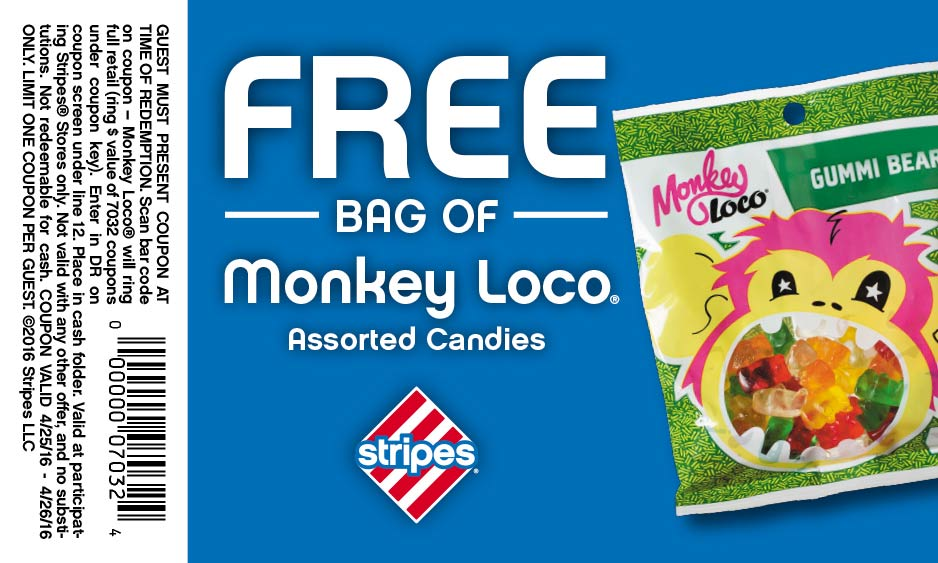 Stripes Coupon May 2017 Free gummy bears at Stripes gas stations