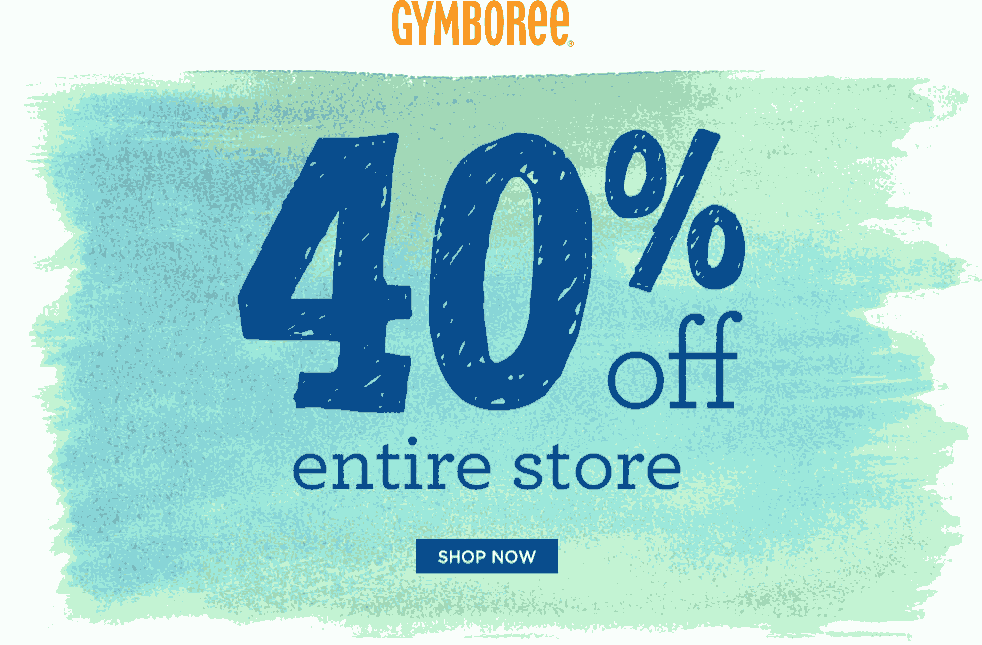 Gymboree Coupon June 2017 40% off everything at Gymboree, ditto online