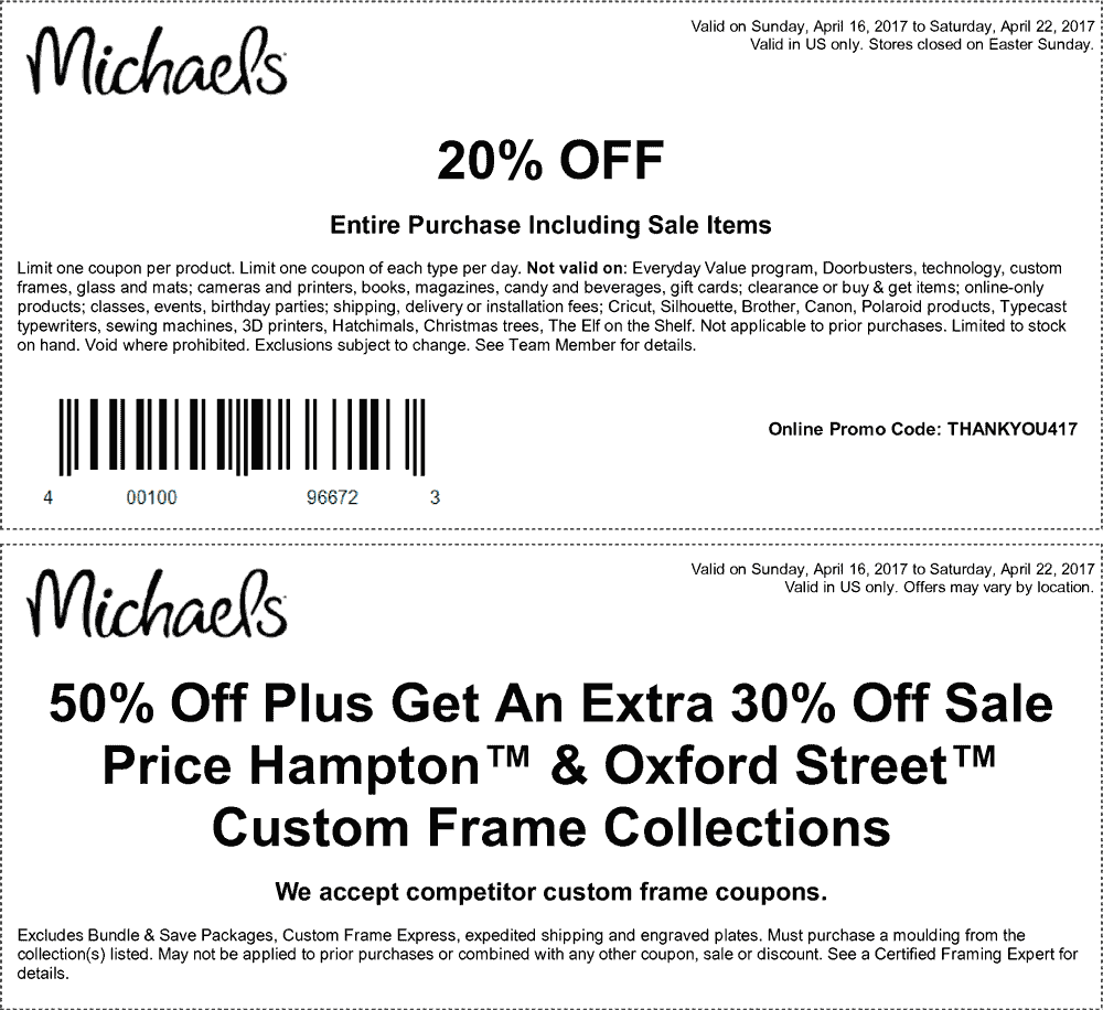 michaels coupon may 2017 20 off everything at michaels or online via promo code