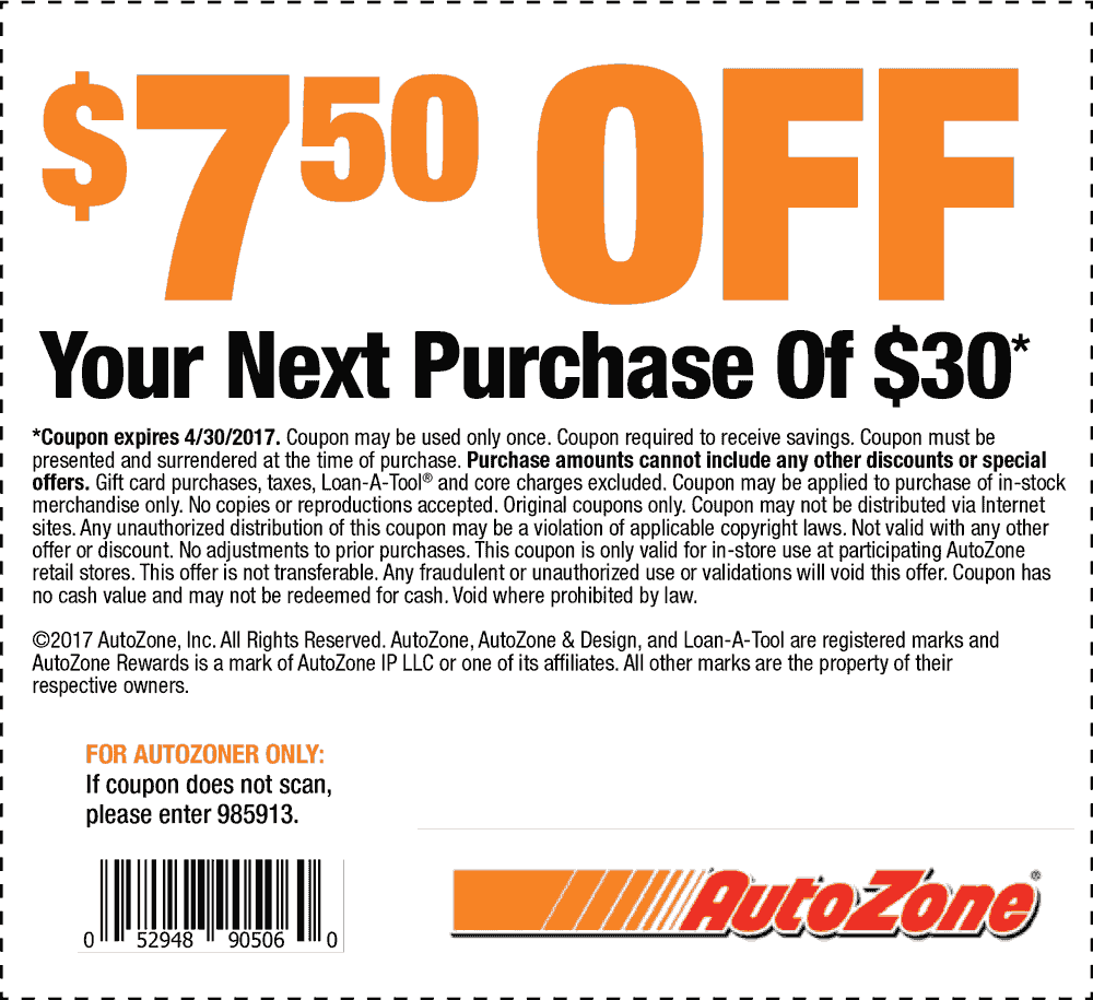 Autozone coupon code 40 off