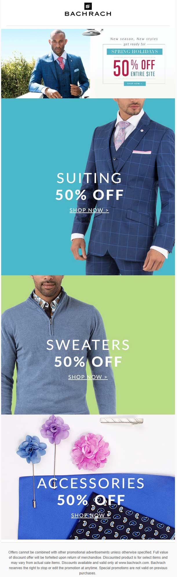 Bachrach Coupon December 2018 50% off everything online at Bachrach