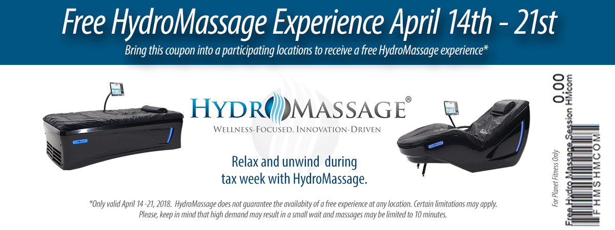 Hydromassage Coupon February 2019 Free massage at HydroMassage