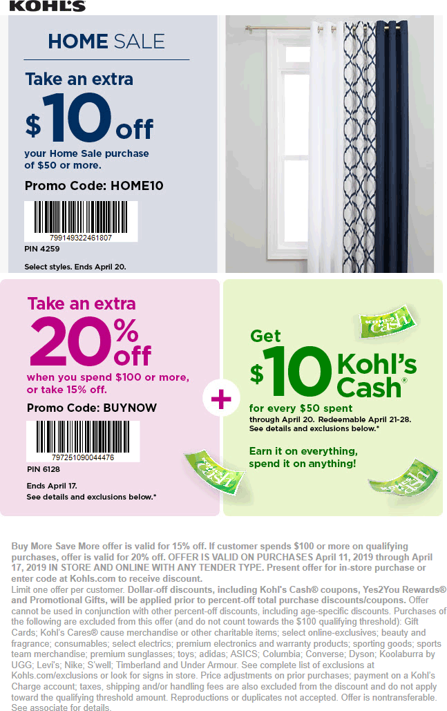 Kohls Coupon November 2019 15% off & more at Kohls, or online via promo code BUYNOW