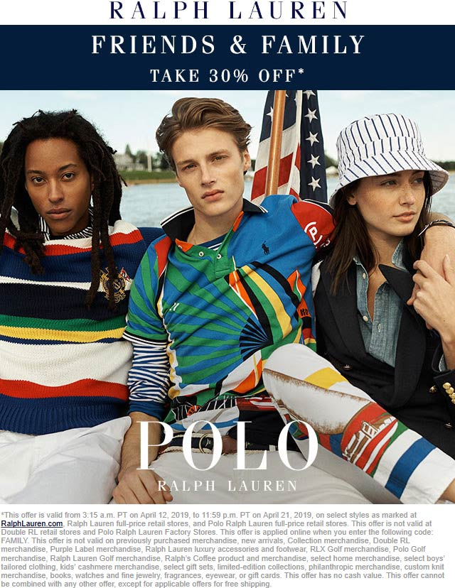 Ralph Lauren Coupon June 2019 30% off at Ralph Lauren, ditto online