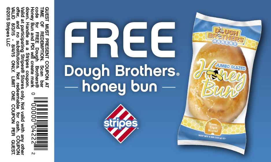 Stripes Coupon November 2017 Free honey bun today at Stripes gas stations