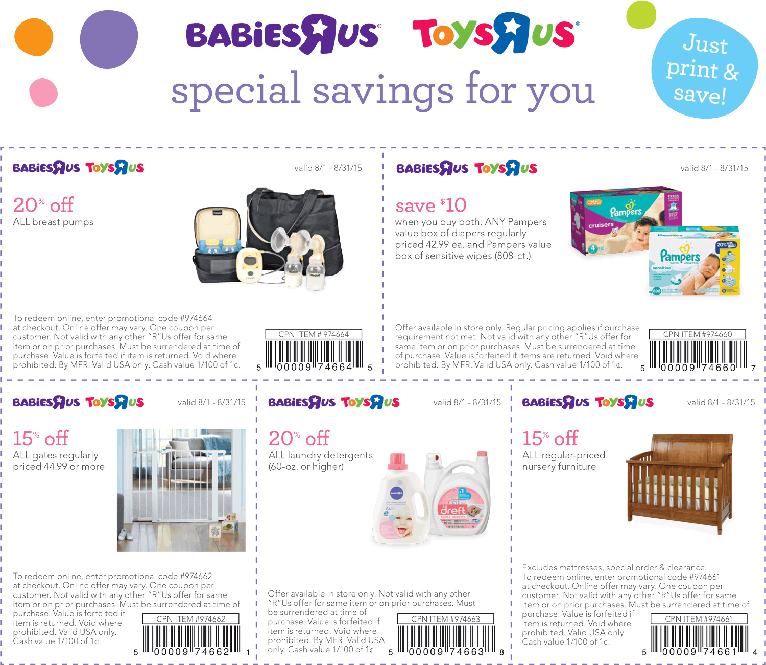 Toys R Us Coupon March 2017 $10 off diapers, 15% off furniture & more at Babies R Us & Toys R Us