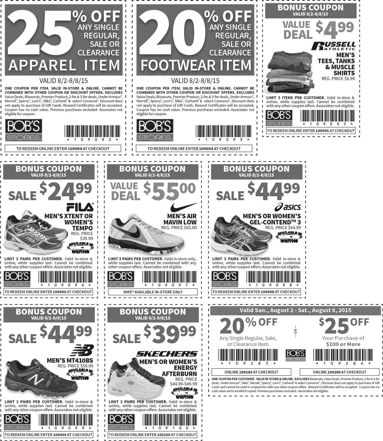 Bobs Stores Coupon March 2018 25% off a single item & more at Bobs Stores, or online via promo code 109094