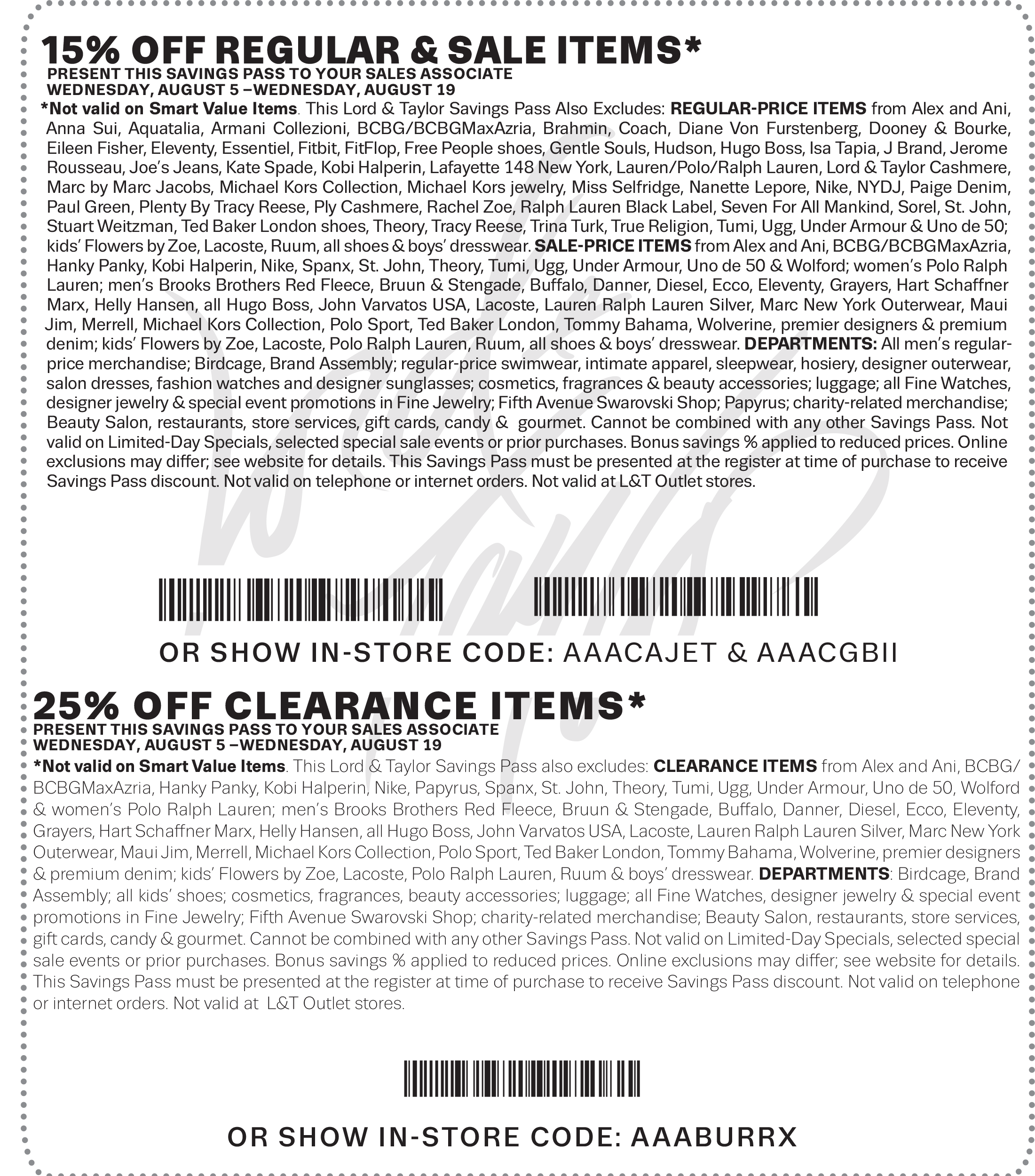 Lord & Taylor Coupon May 2018 15-25% off at Lord & Taylor, or online via promo code SAVE