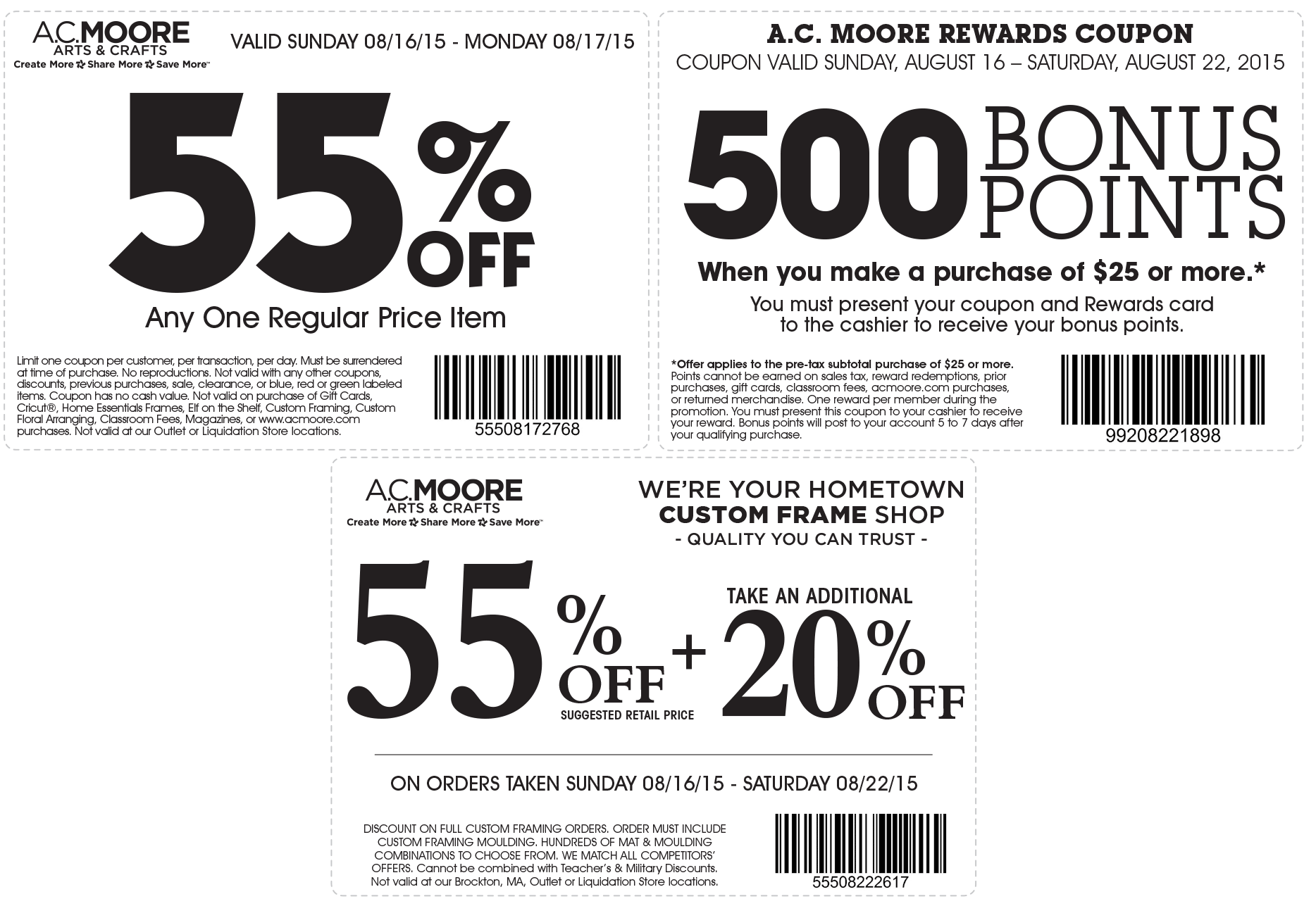 A.C. Moore Coupon March 2018 55% off a single item at A.C. Moore