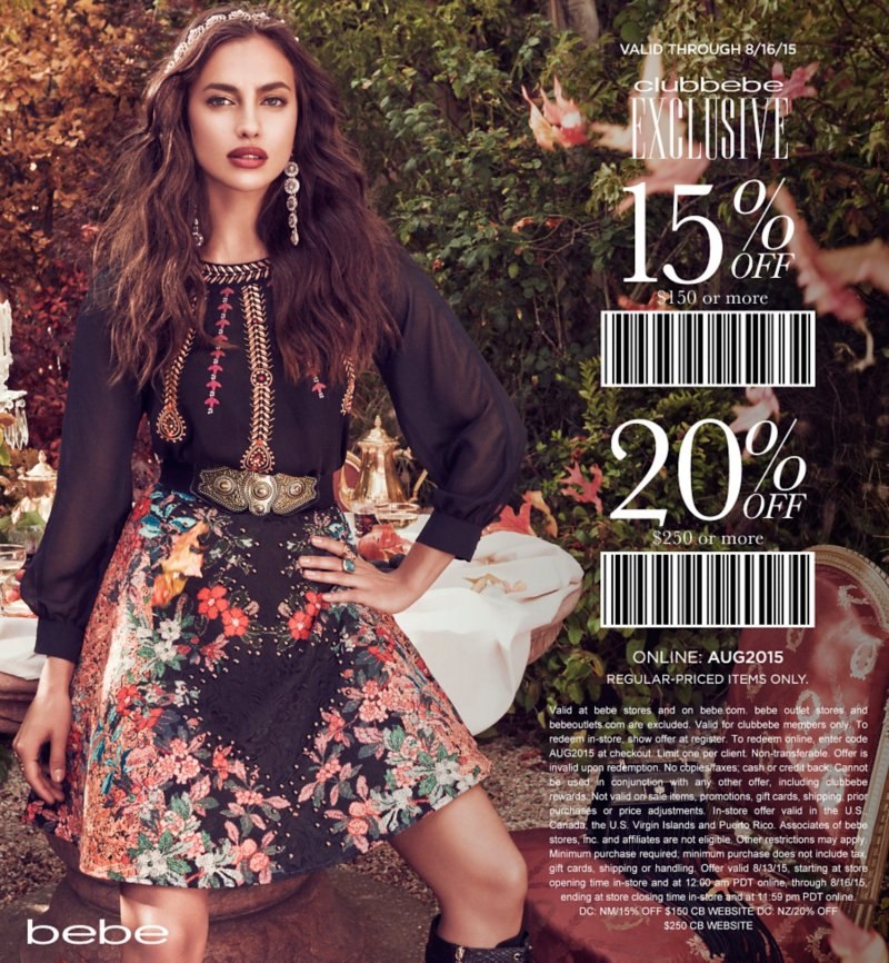 Bebe Coupon January 2017 20% off $250 today at bebe, or online via promo code AUG2015