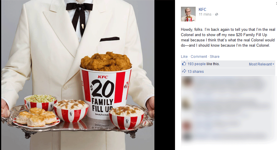 KFC.com Promo Coupon $20 buck family meals going on at KFC
