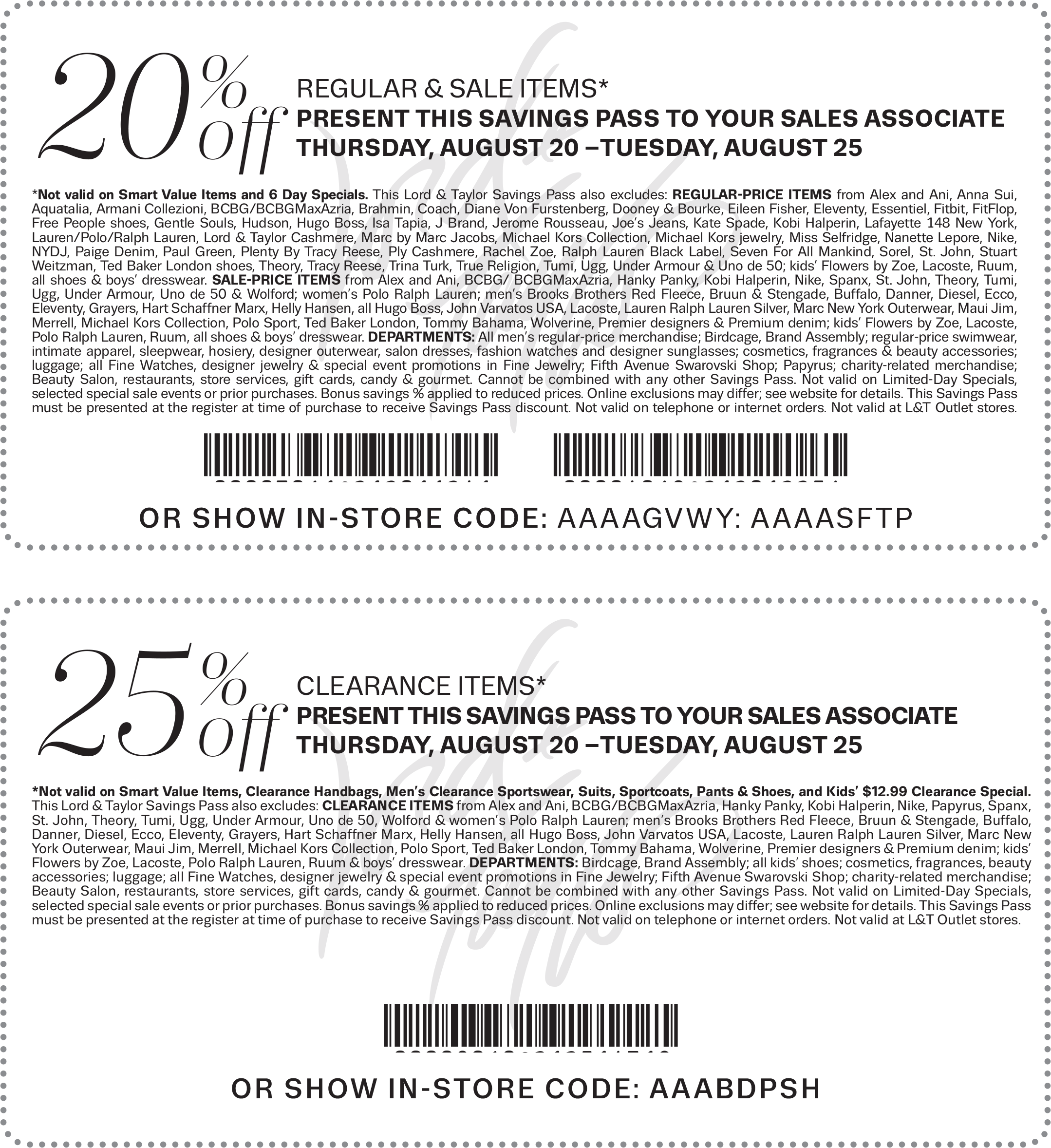 Lord & Taylor Coupon December 2018 20-25% off at Lord & Taylor, or online via promo code SUMMER