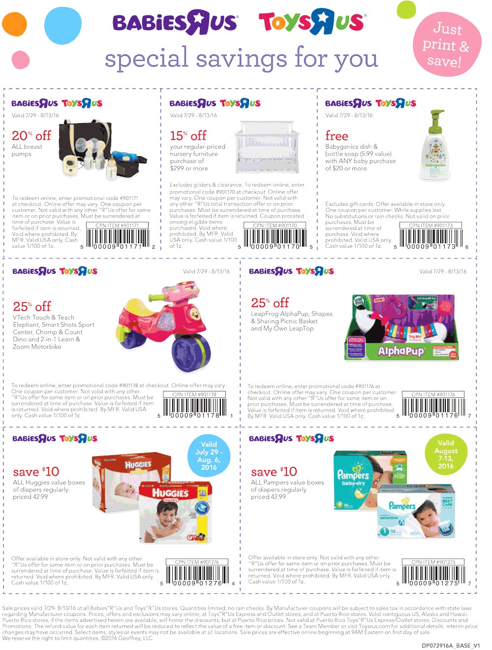 Babies R Us Coupon May 2018 $10 off diapers & more at Toys R Us & Babies R Us