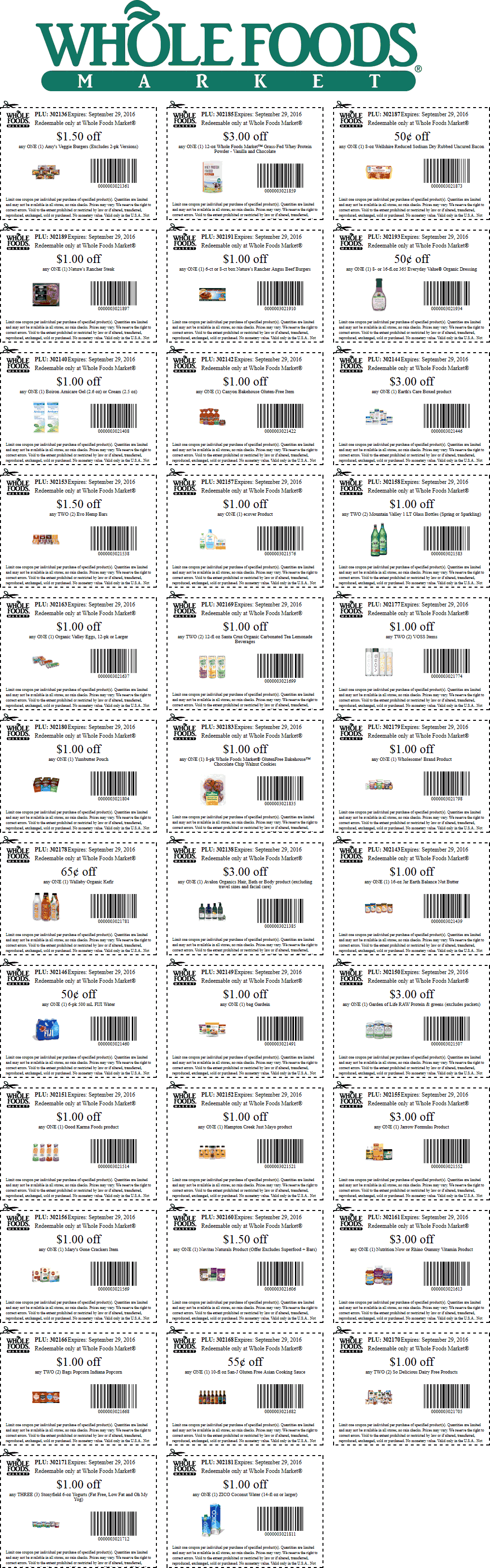 Whole Foods Coupon July 2017 Various grocery coupons for Whole Foods market