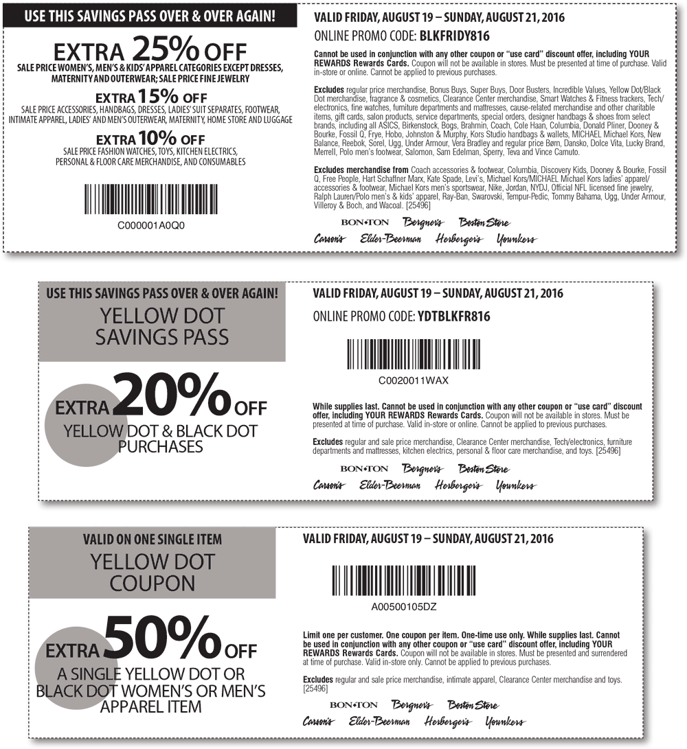 Carsons Coupon December 2018 Extra 25% off & more at Carsons, Bon Ton & sister stores, or online via promo code BLKFRIDY816