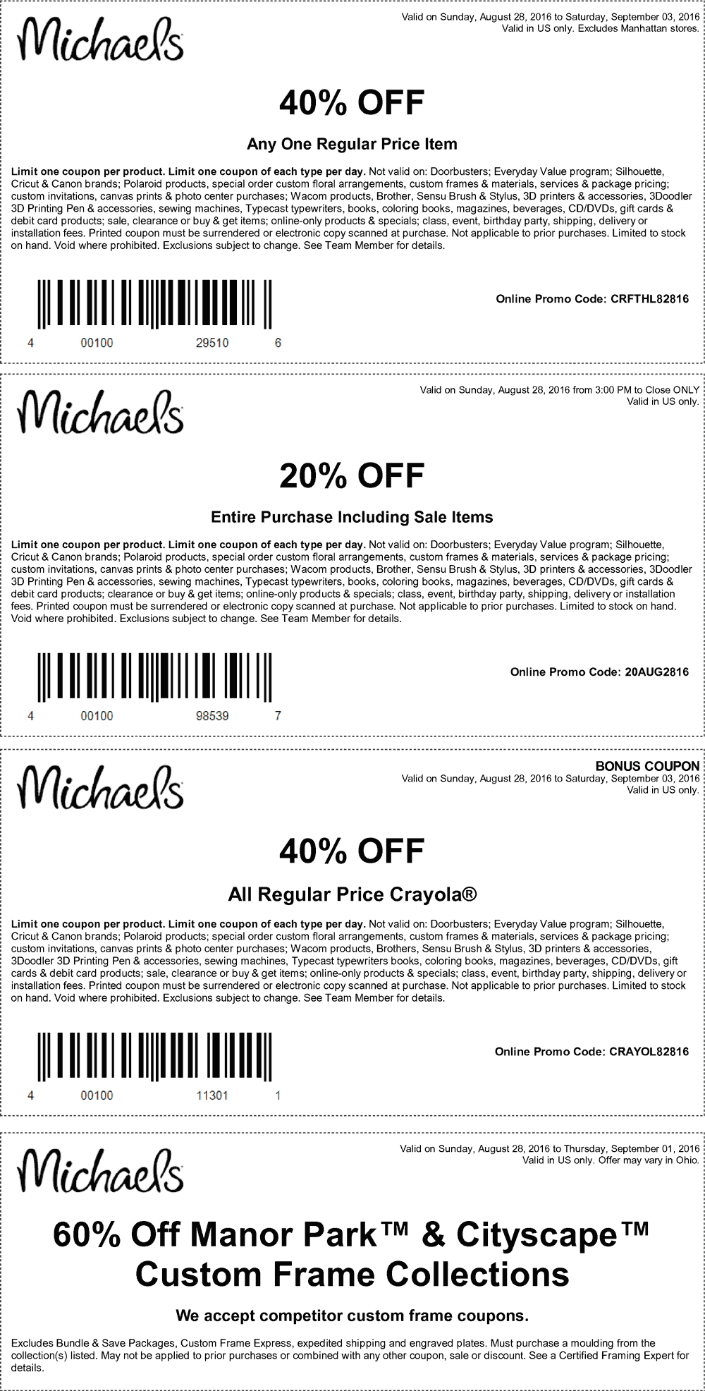 Michaels Coupon December 2019 40% off a single item & more at Michaels, or online via promo code CRFTHL82816