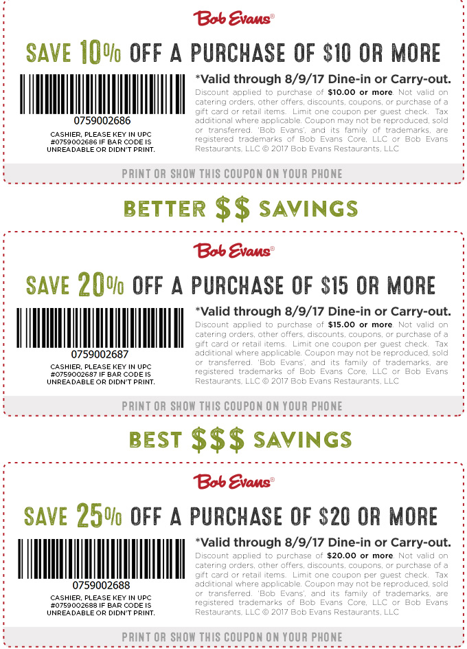 picture regarding Bob Evans Printable Coupons referred to as Bob Evans Coupon codes - 10-25% off at Bob Evans eating places