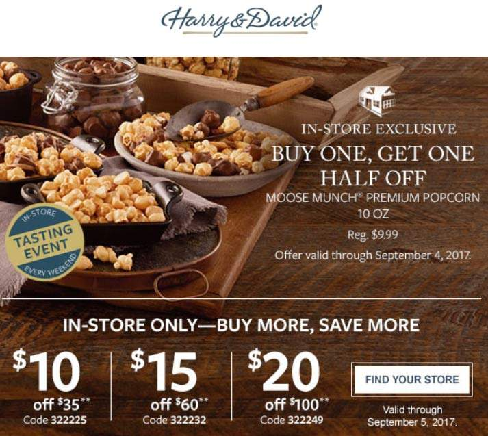 Harry & David Coupon August 2018 $10 off $35 & more at Harry & David