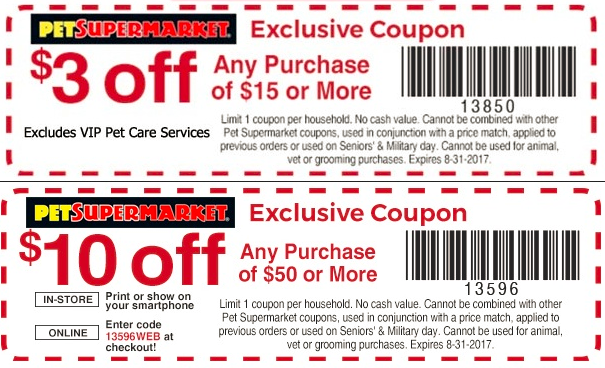 photograph regarding Pet Supermarket Printable Coupon identified as Canine Grocery store Discount coupons - $3 off $15 additional at Puppy Grocery store
