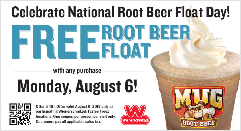 Wienerschnitzel.com Promo Coupon Free root beer float with any order today at Wienerschnitzel restaurants