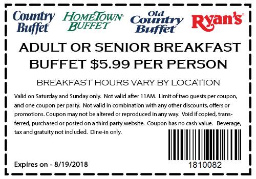 hometown buffet coupons 6 breakfast buffet at hometown buffet rh thecouponsapp com