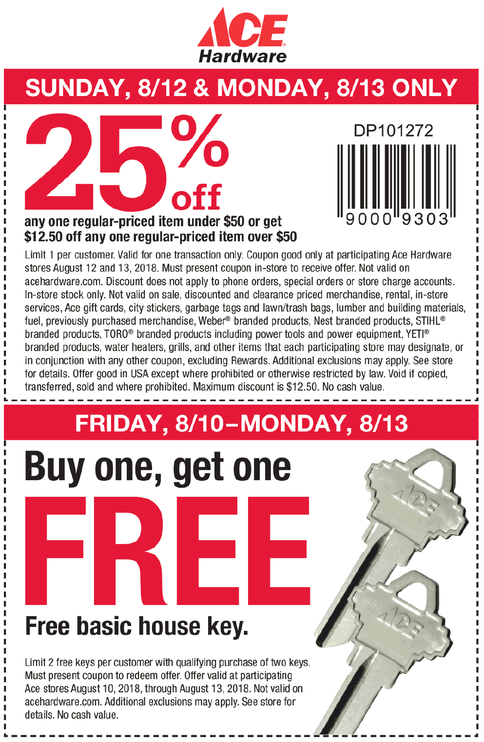 Ace Hardware Coupon October 2019 25% off a single item & more at Ace Hardware