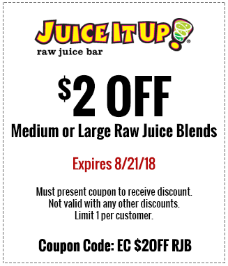 JuiceItUp.com Promo Coupon $2 off blends at Juice It Up