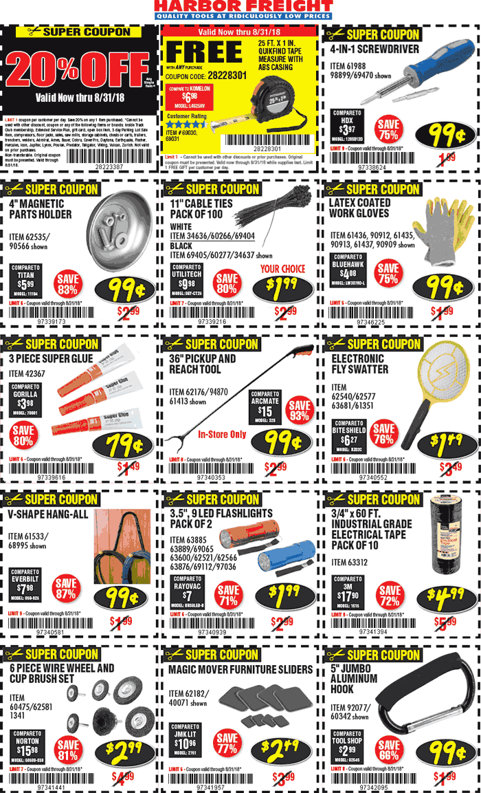 Harbor Freight Coupon November 2019 20% off a single item & more at Harbor Freight Tools