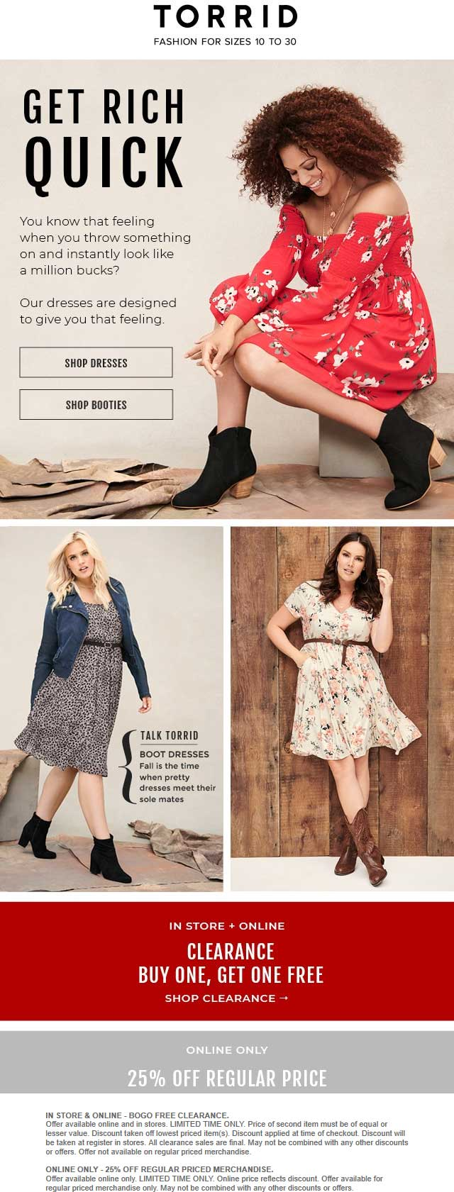 Torrid Coupon November 2019 Second clearance item free & more at Torrid, ditto online