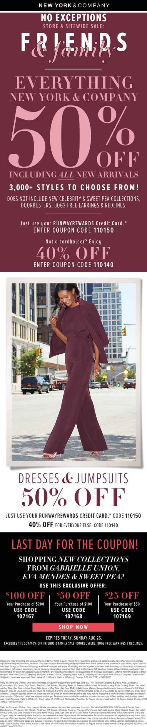 New York & Company Coupon November 2019 40% off store brand today at New York & Company, or online via promo code 110140