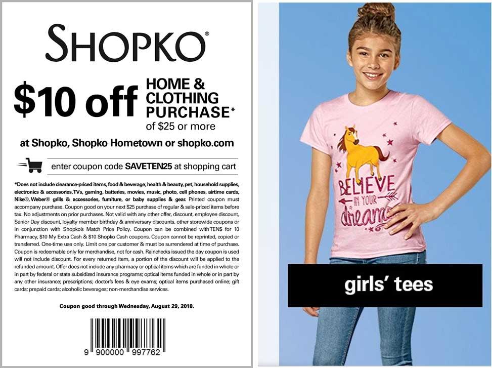 Shopko Coupon July 2019 $10 off $25 today at Shopko, or online via promo code SAVETEN25