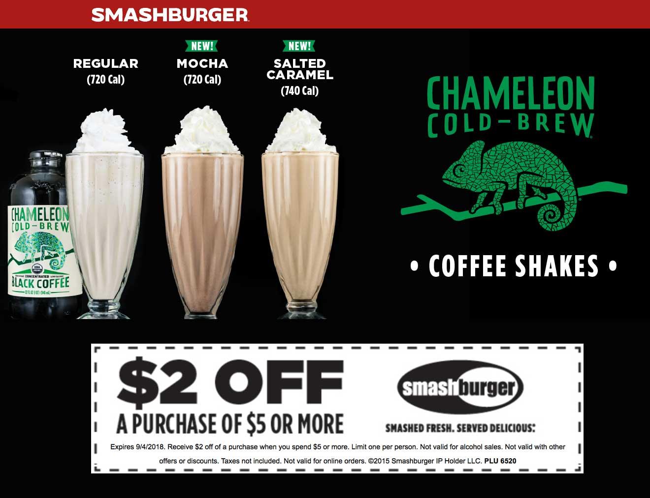 Smashburger Coupon May 2019 $2 off $5 at Smashburger restaurants