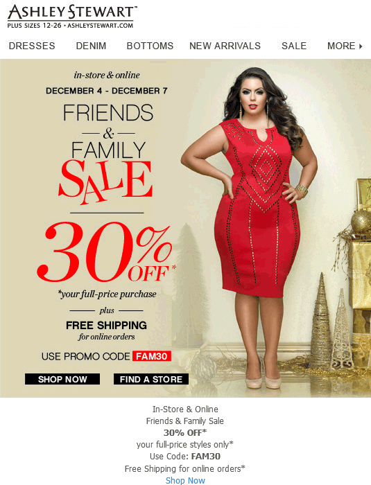Ashley Stewart Coupon October 2016 30% off at Ashley Stewart, or online via promo code FAM30