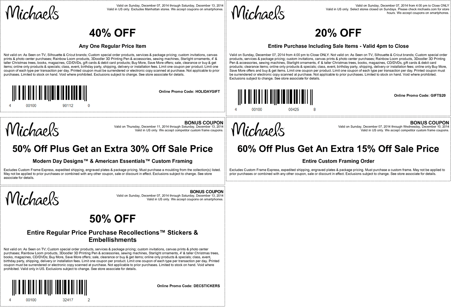 Michaels Coupon May 2018 20% off everything, 40% off a single item at Michaels, or online via promo code HOLIDAYGIFT