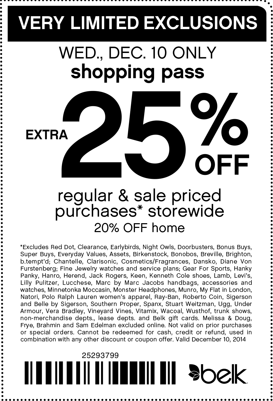 Belk Coupon October 2017 Extra 25% off today at Belk, or online via promo code 61048463