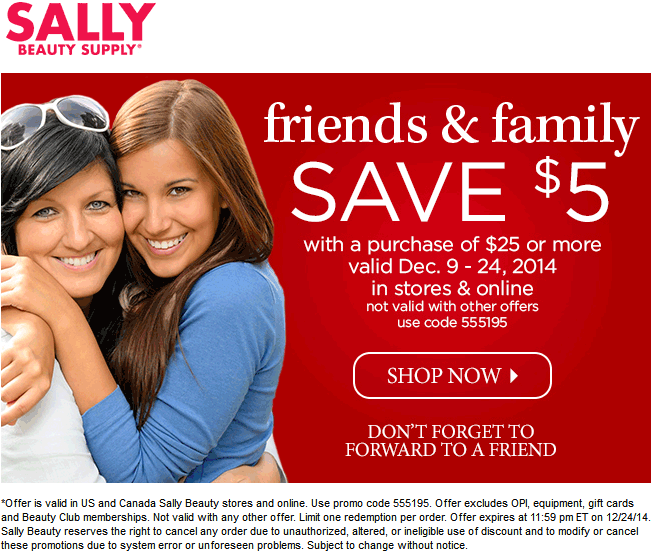 Sally Beauty Coupon March 2019 $5 off $25 at Sally Beauty Supply, or online via promo code 555195