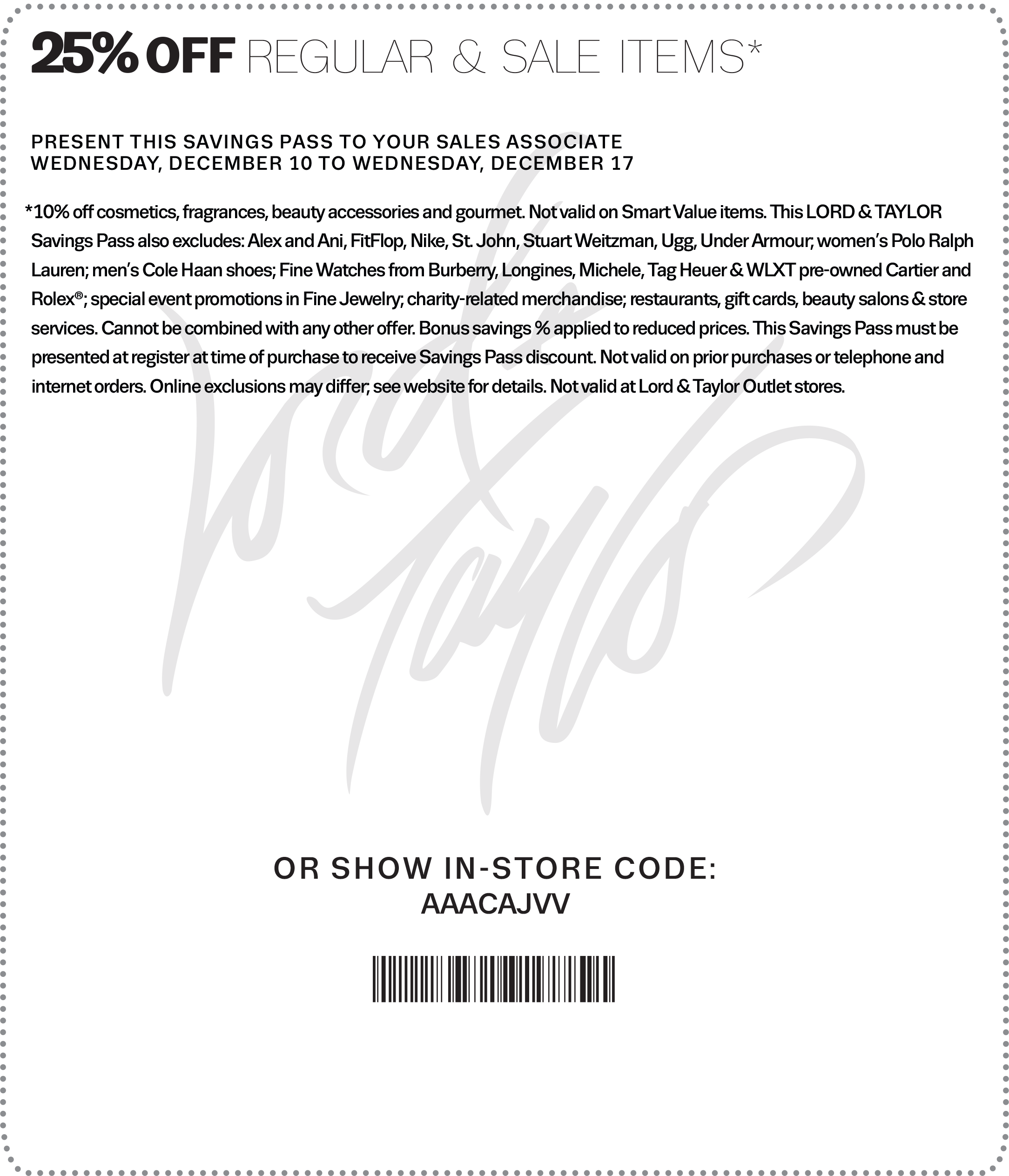 Lord & Taylor Coupon April 2017 Extra 25% off at Lord & Taylor, or online via promo code FRIENDS
