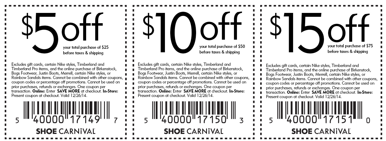Shoe Carnival Coupon April 2018 $5 off $25 & more the 26th at Shoe Carnival, or online via promo code SAVE MORE