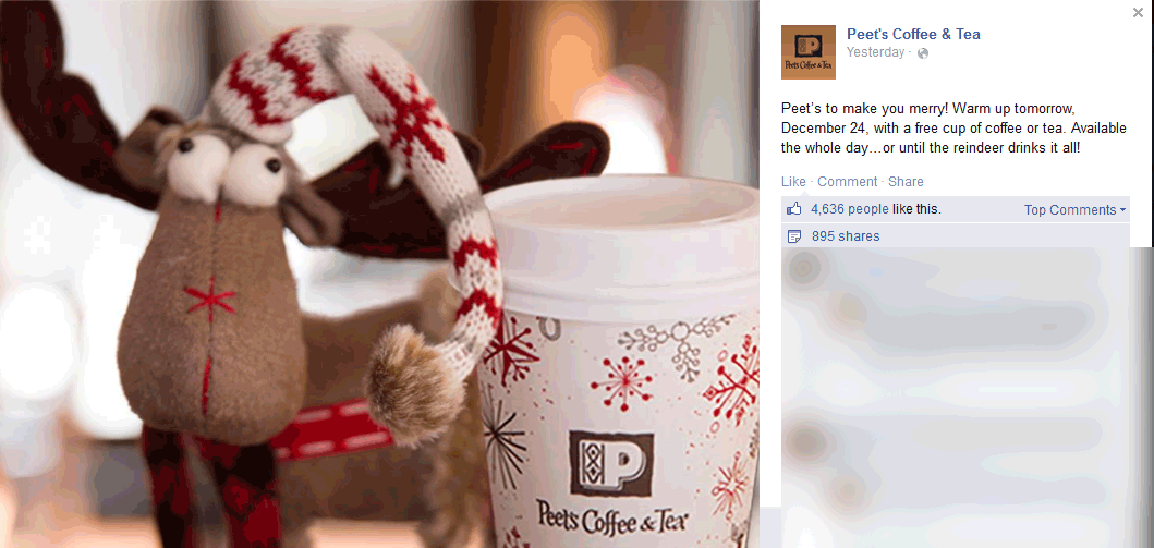 Peets Coffee & Tea Coupon October 2017 Free coffee & tea today at Peets Coffee & Tea