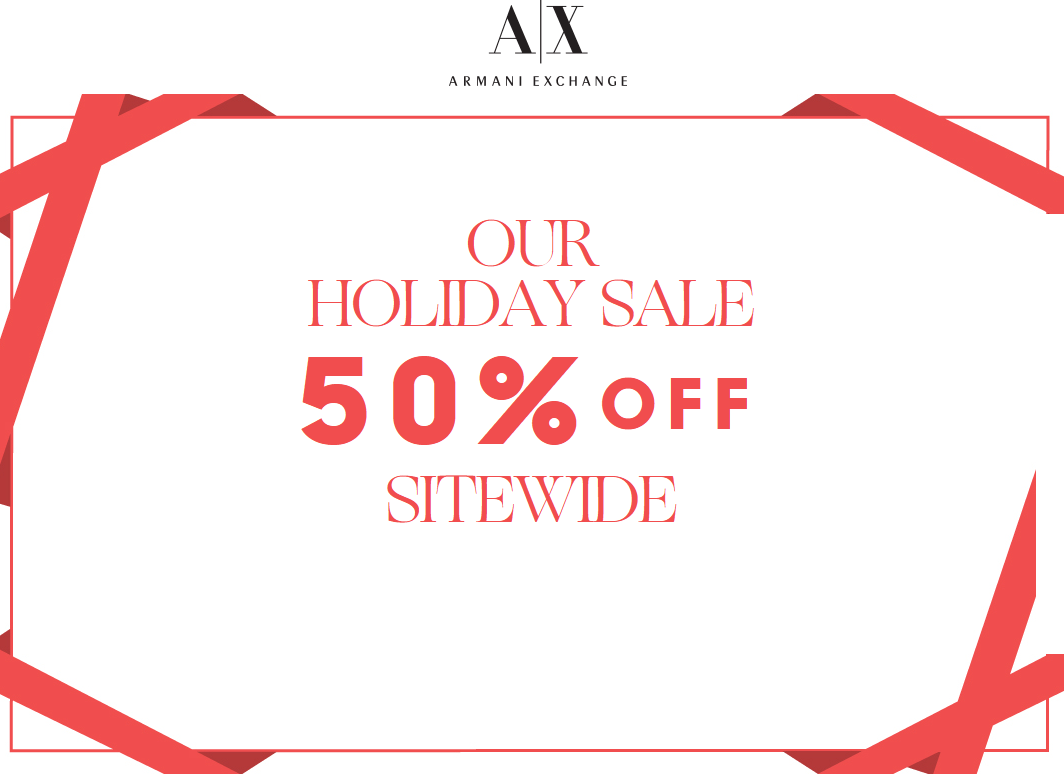 Armani Exchange Coupon January 2017 Everything is 50% off online today at Armani Exchange