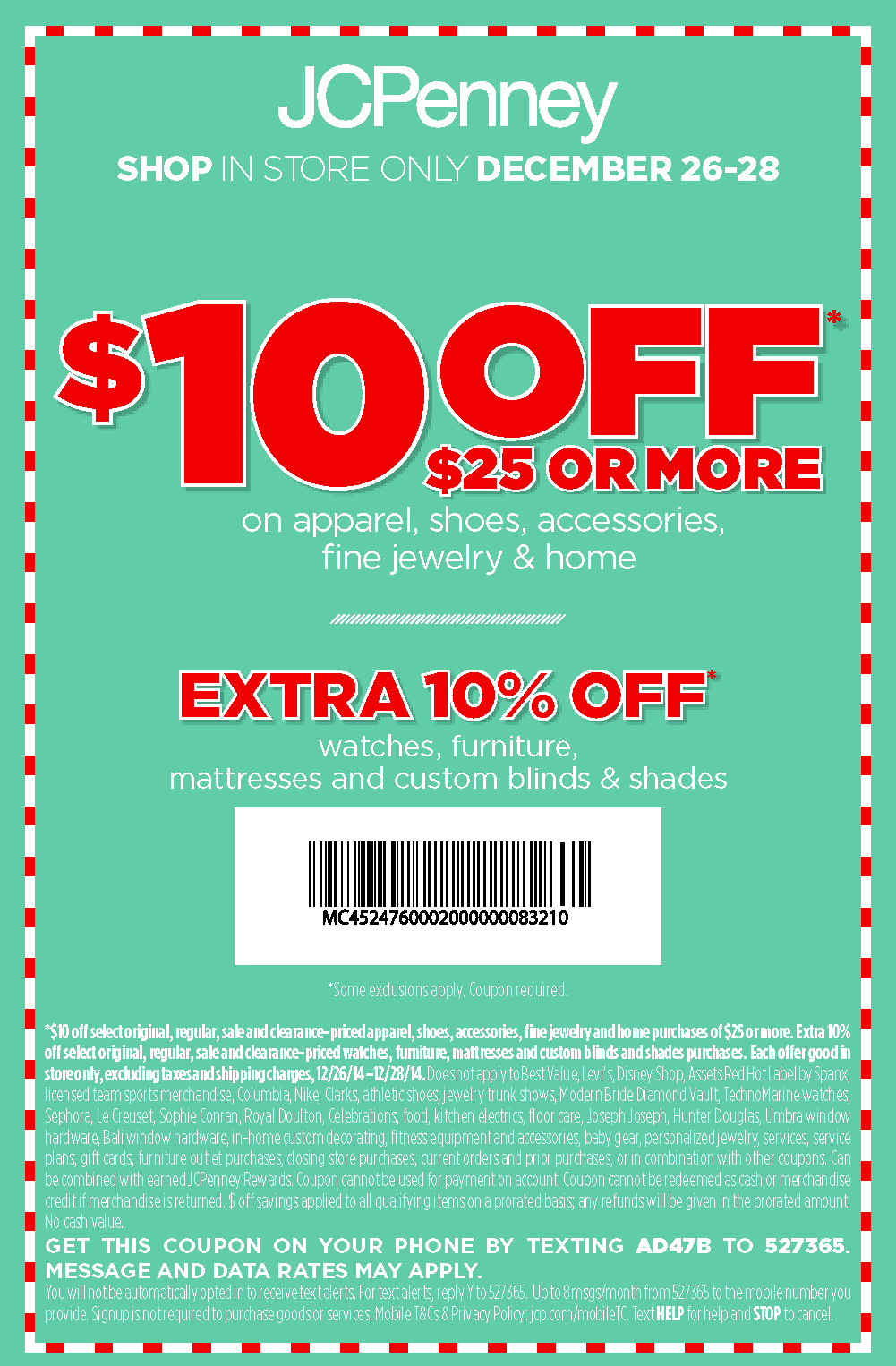 JCPenney Coupon November 2017 $10 off $25 at JCPenney