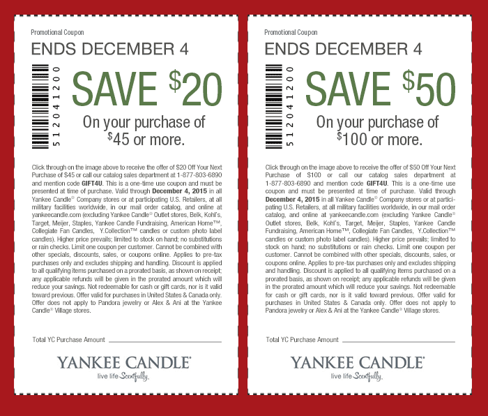 Yankee Candle Coupon July 2018 $20 off $45 & more at Yankee Candle, or online via promo code GIFT4U