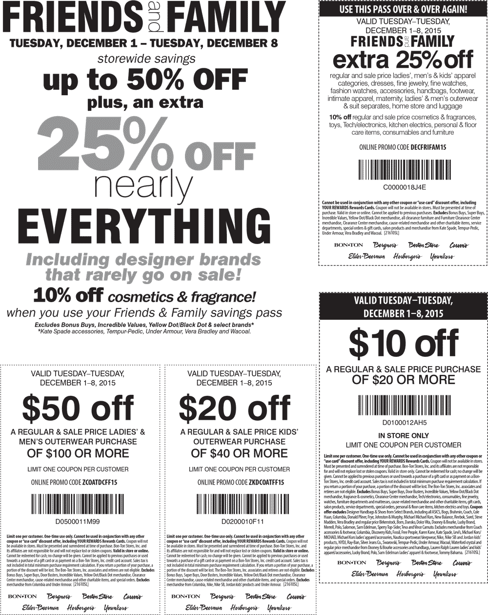 Carsons Coupon May 2019 Extra 25% off & more at Bon Ton, Carsons & sister stores, or online via promo code DECFRIFAM15