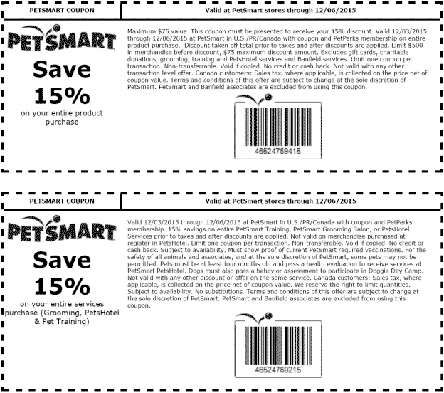 PetSmart Coupon February 2017 15% off today at PetSmart